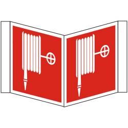 Brandschutzzeichen Winkelschild Löschschlauch BGV