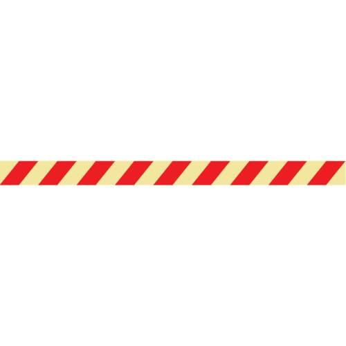 Langnachleuchtende Plastikstreifen zur Kennzeichnung von verbotenen Bereichen 1200x35mm
