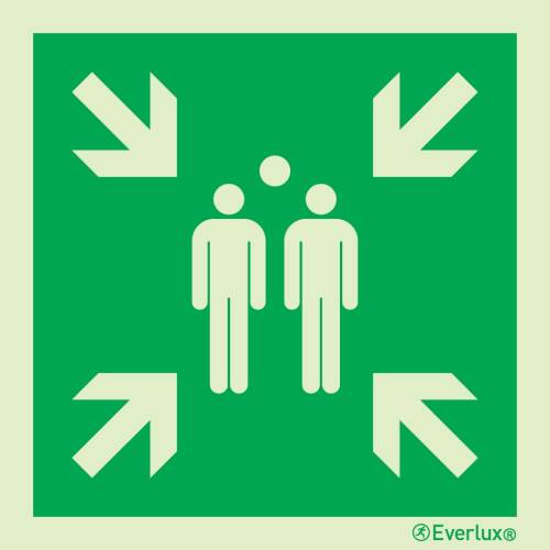 Rettungszeichen Symbole Sammelstelle