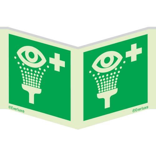 Rettungszeichen Symbole Winkelschild Augenspühleinrichtung