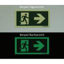 Rettungszeichen Winkelschild links und rechts Deckenmontage
