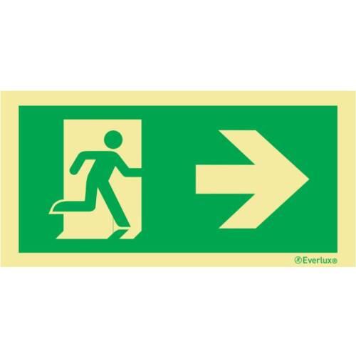 nach rechts - Flucht- und Rettungszeichen Bodenbeschilderung