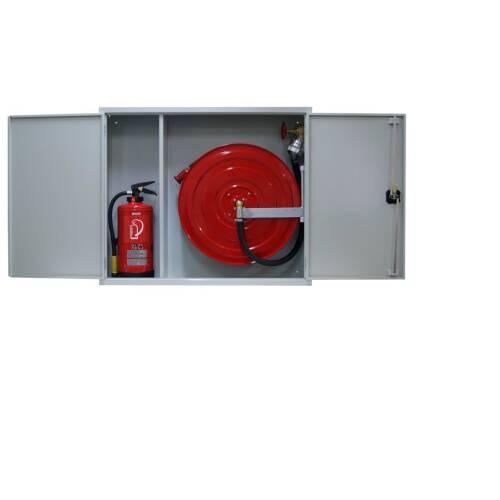 Löschposten mit Platz für 2 Feuerlöscher 20-50 Meter
