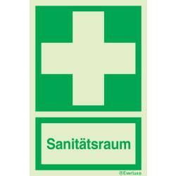 Rettungszeichen Symbole Sanitätsraum