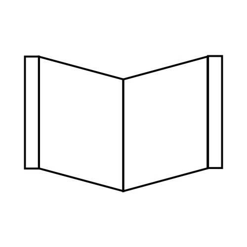 Winkelschild (148x148 mm, neutral)