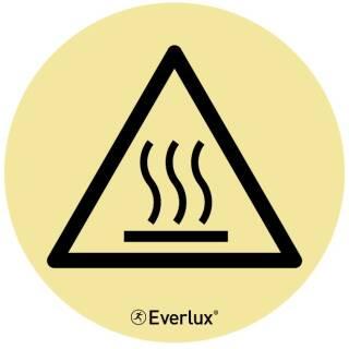 Warnung vor heisser Oberfläche