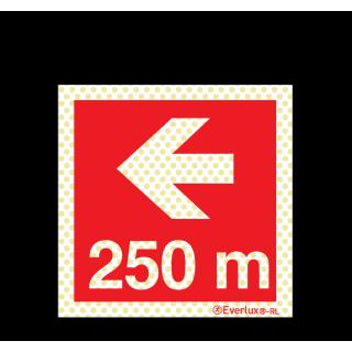 Pfeil nach links 250 Meter