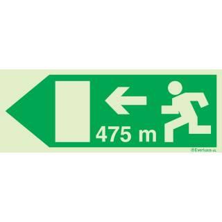 Rettungsweg links 475 Meter
