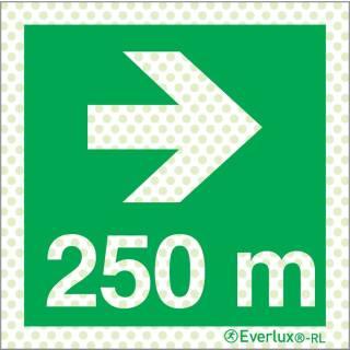 Rechts 250 Meter
